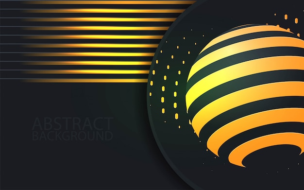 Black paper cut background textured with golden  patterns.  - vector