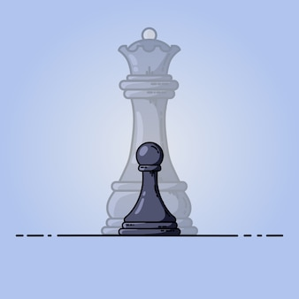 Black pawn becomes queen