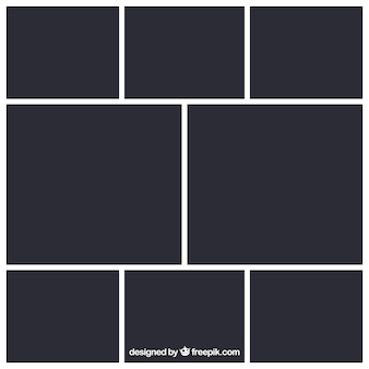Черный шаблон фоторамки