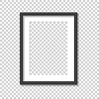Black photo frame template. illustration.
