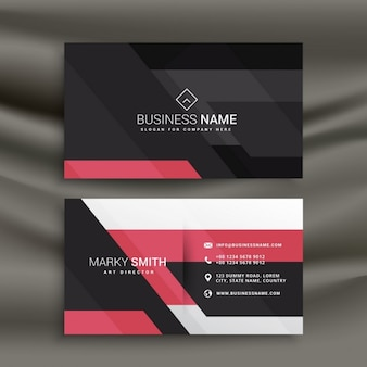 Black and pink business card