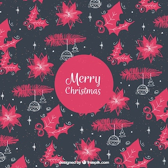 Black and pink christmas pattern