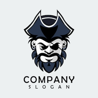 Black pirate logo