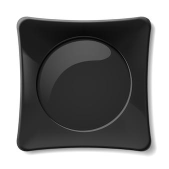 Черная тарелка