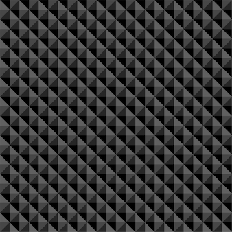 Black polygonal abstract seamless pattern