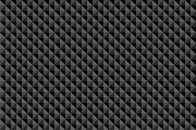 黒の多角形の抽象的なシームレスパターン