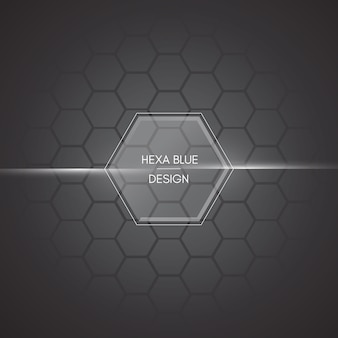 Black polygonal background with hexagons