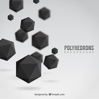 Black polyhedrons background