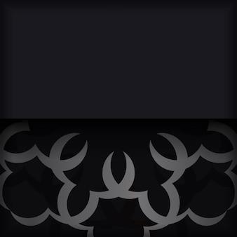 인도 장식으로 검은 엽서