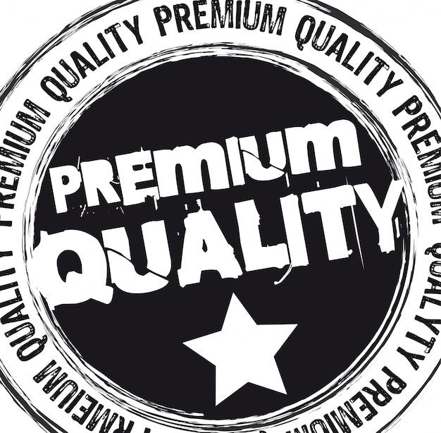 Black premium quality stamp over white background vector