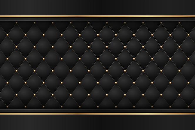 豪華なダークゴールデンの幾何学的要素を備えたブラックプレミアム