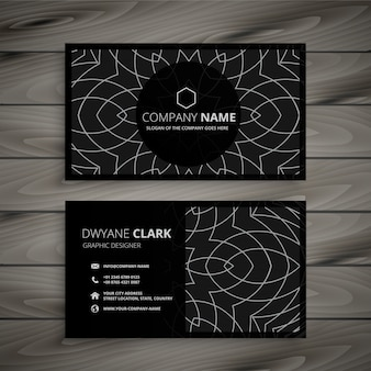Black professional business card design template
