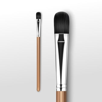 Black professional makeup concealer with black handle