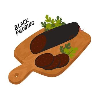 ブラックプディングのイラスト。