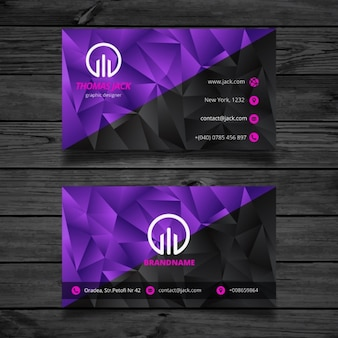 Black and purple abstract business card