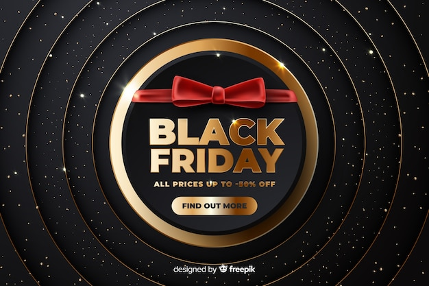 Black realistic black friday all prices down