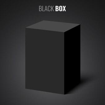 Black rectangular box.