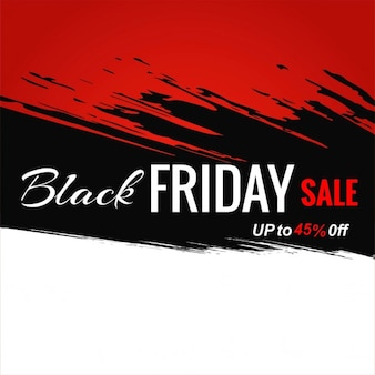 Black, red and white background for black friday