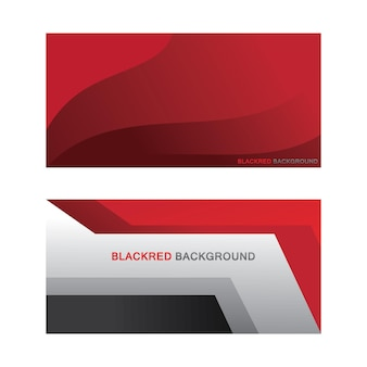 Black and red background template for banner and poster design abstract