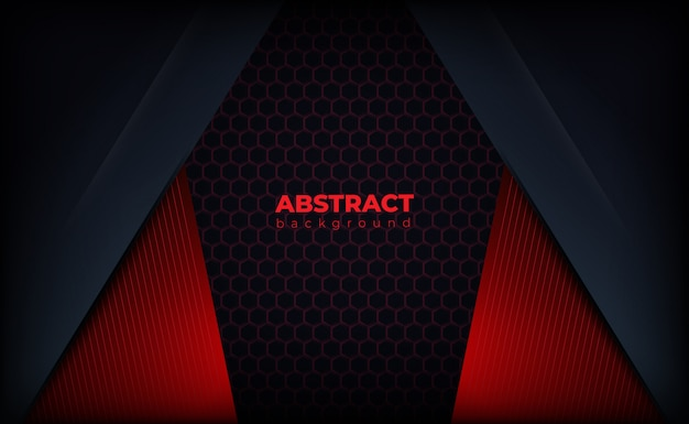 Black red background with lines and polygons