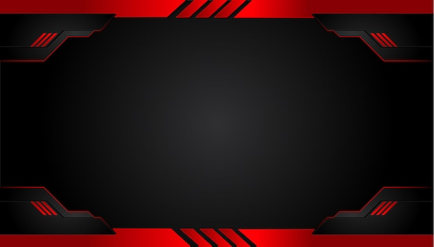 Black and red metal background