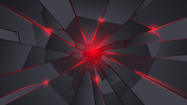 Black and red metal crack background