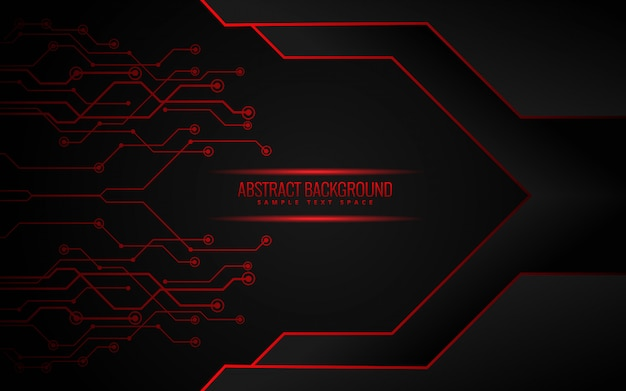 Black and red technology background