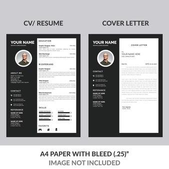 Black resume design