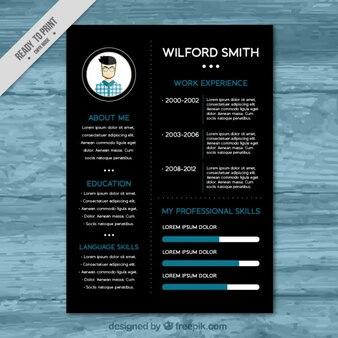 Black resume template