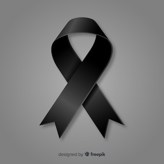 Black ribbon background
