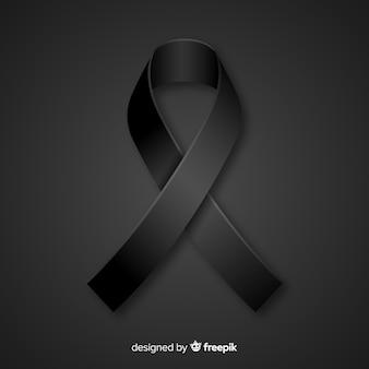 Black ribbon background
