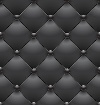 Black royal upholstery seamless background