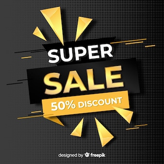 Black sale background golden details