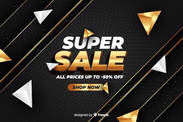 Black sales background with golden details