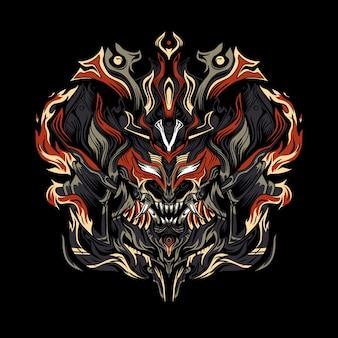 Black samurai monster  esport logo