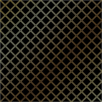 Black seamless geometric pattern with  gold color.