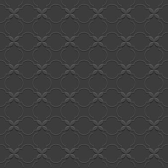 Black seamless pattern in oriental style