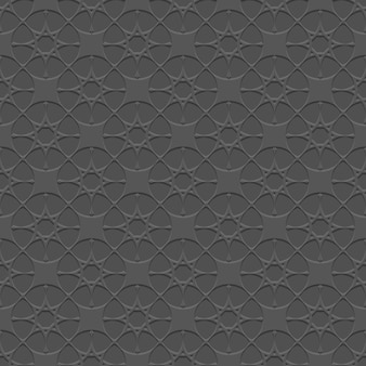 Black seamless pattern with stylized stars in arabian style