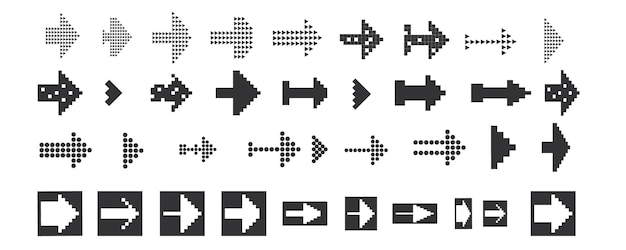 Black set icons arrow iconvector illustration vector pointers collection