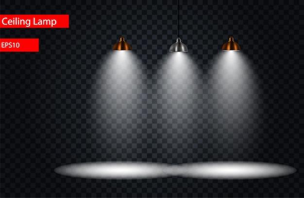 Black set lamp