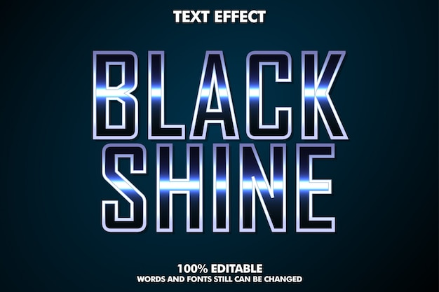 Black shine text effect, cinematic text style
