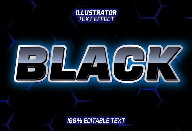 Черный блестящий текстовый эффект на фоне шестиугольника бесшовный фон