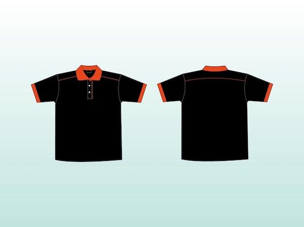Black shirts casual clothes vector