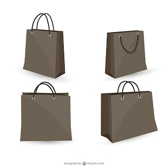 Black shopping bags collection