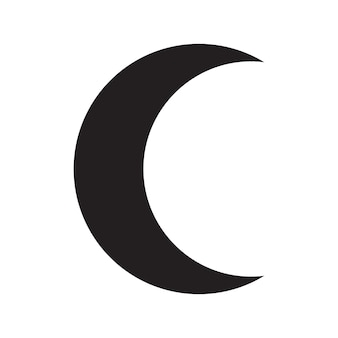 The black silhouette of moon phase. astronomy icon