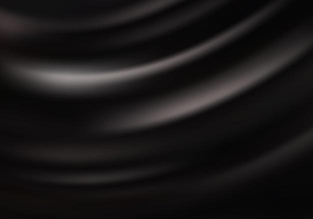 Черный шелк фон драпировка фон волновой поток абстрактный фон