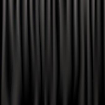 Черные шелковые шторы, иллюстрация