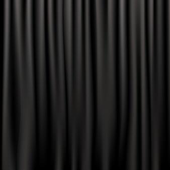 Черные шелковые шторы