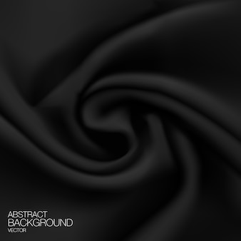 Black silk fabric background.