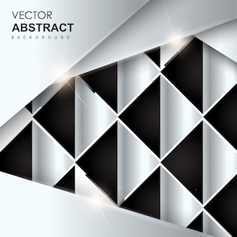 Black & Silver Abstract Background